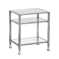 Southern Enterprises Dina Metal/Glass End Table-Silver