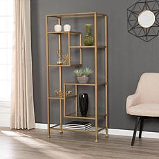 Southern Enterprises Dina Metal/Glass Etagere - Gold