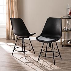 Southern Enterprises Drayzen Chairs 2-pack - Matte Black
