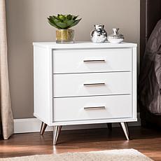 Southern Enterprises Ekstene Bedside Table - White