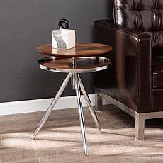 Southern Enterprises Harryn Adjustable Accent Table - Chrome