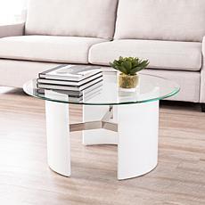 Southern Enterprises Holly & Martin Circk Round Coffee Table - White
