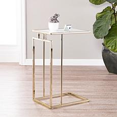 Southern Enterprises Holly & Martin Colbi C-Table - Champagne/White