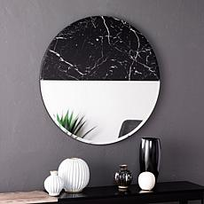 Southern Enterprises Holly&Martin Bowers Round Decorative Mirror-Black