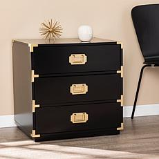 Southern Enterprises Stretha 3-Drawer Campaign Chest - Black