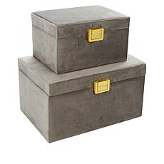 SouthStreet Loft Set of 2 Velvet Jewelry Boxes
