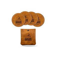 Sparo Brown Cleveland Browns 4-pack Personalized Coaster Set