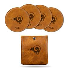 Sparo Brown Los Angeles Rams 4-pack Personalized Coaster Set