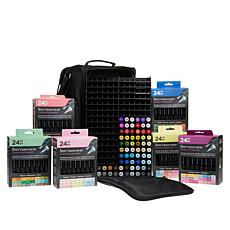 Spectrum Noir 216-piece Marker Bundle with Trays and Bag