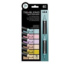 Spectrum Noir 6-piece Tri-Blend Marker Pens - Vintage Blends