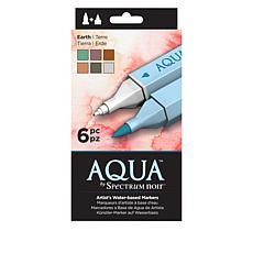 Spectrum Noir Aqua 6-piece Artist's Water-Based Markers
