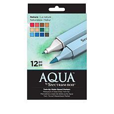 Spectrum Noir Aqua Water-Based Markers 12-pack