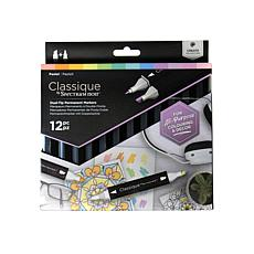 SPECTRUM NOIR Classique Alcohol Markers Pastel Set of 12