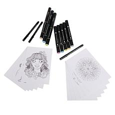 Spectrum Noir Set of 2 Creative Coloring Kits