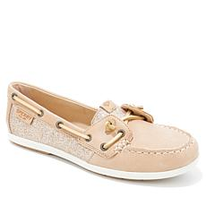 Sperry Coil Ivy Sparkle Leather Slip-On Boat Shoe