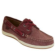 Sperry Koifish Leather Sparkle Chambray Boat Shoe