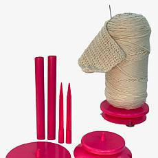SpinnKnitty Portable Yarn Station with 2 Yarn and 2 Hollow Rods