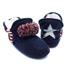 Sporto® Ruby Slipper Bootie with Pom Poms