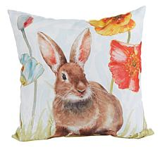 Spring Collection Decorative Pillow - Sitting Bunny