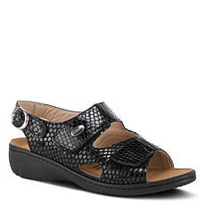 Spring Step Flexus Aksamala Embossed Leather Sandal