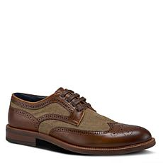 Spring Step Men's Downtown Leather Lace-Up Wingtip Shoe