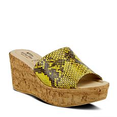 Spring Step Mercury Python-Print Wedge Sandal