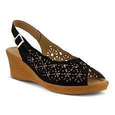 Spring Step Saibara Slingback Leather Wedge Sandals