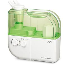 SPT Dual Mist Humidifier with ION Exchange Filter, Green