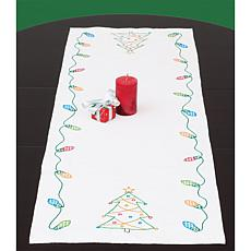 Stamped Table Runner/Scarf - Christmas