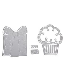 Stamps of Life Cupcake & Gift Box Fold-It Card Die Set