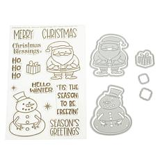 Stamps of Life Santa & Snowman Stamp and Die Set by Stephanie Barnard
