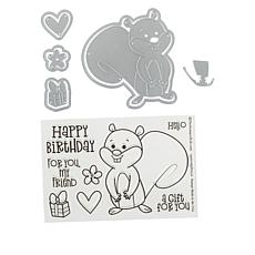 Stamps of Life Squirrel and Gift Stamp and Die Set