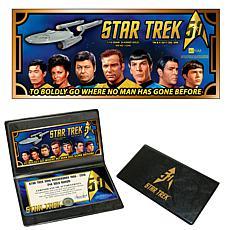 Star Trek 50th Anniversary 24K Aurum Collectible Note