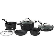 """Starfrit """"The Rock"""" 8-Piece Cookware Set"""
