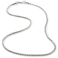 "Stately Steel 3mm 18"" Round Wheat-Link Chain"