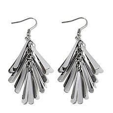 Stately Steel Multi Linear Drop Earrings