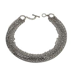 "Stately Steel Multi-Strand 19-3/4"" Necklace"