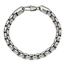 Stately Steel Rolo Link Bracelet