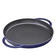 "Staub Cast Iron 10"" Round Double Handle Griddle"