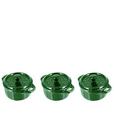 Staub Ceramincs Set of 3 Mini Cocottes