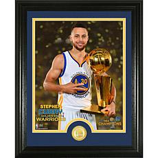 """Stephen Curry 2017 NBA Finals """"Trophy"""" Single Coin Phot"""