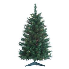 Sterling 3' Spruce Multicolor Lighted Christmas Tree