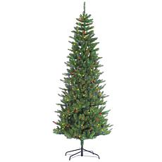 Sterling 7-1/2' Multicolor Lighted Augusta Pine Tree