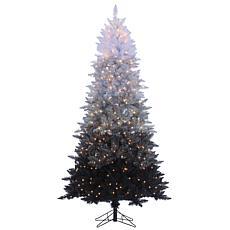 Sterling 7-1/2' Vintage Black Lighted Christmas Tree