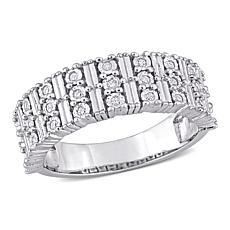 Sterling Silver 0.16ctw Diamond Anniversary Ring