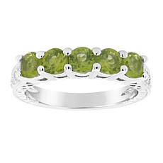 Sterling Silver 5-Stone Gemstone Band Ring