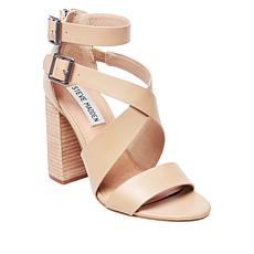 Steve Madden Leather/Nubuck Strappy Sandal Sundance Pump