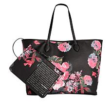 Steve Madden Luna Floral  Tote with Detachable Pouch