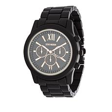 Steve Madden Men's Rosetone Matte Black Chronograph Bracelet Watch