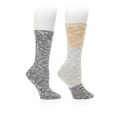 Steven by Steve Madden 2-pack Slub Yarn Boot Socks